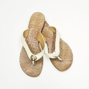 Leather Tory Burch Thora Flip Flops Sandals